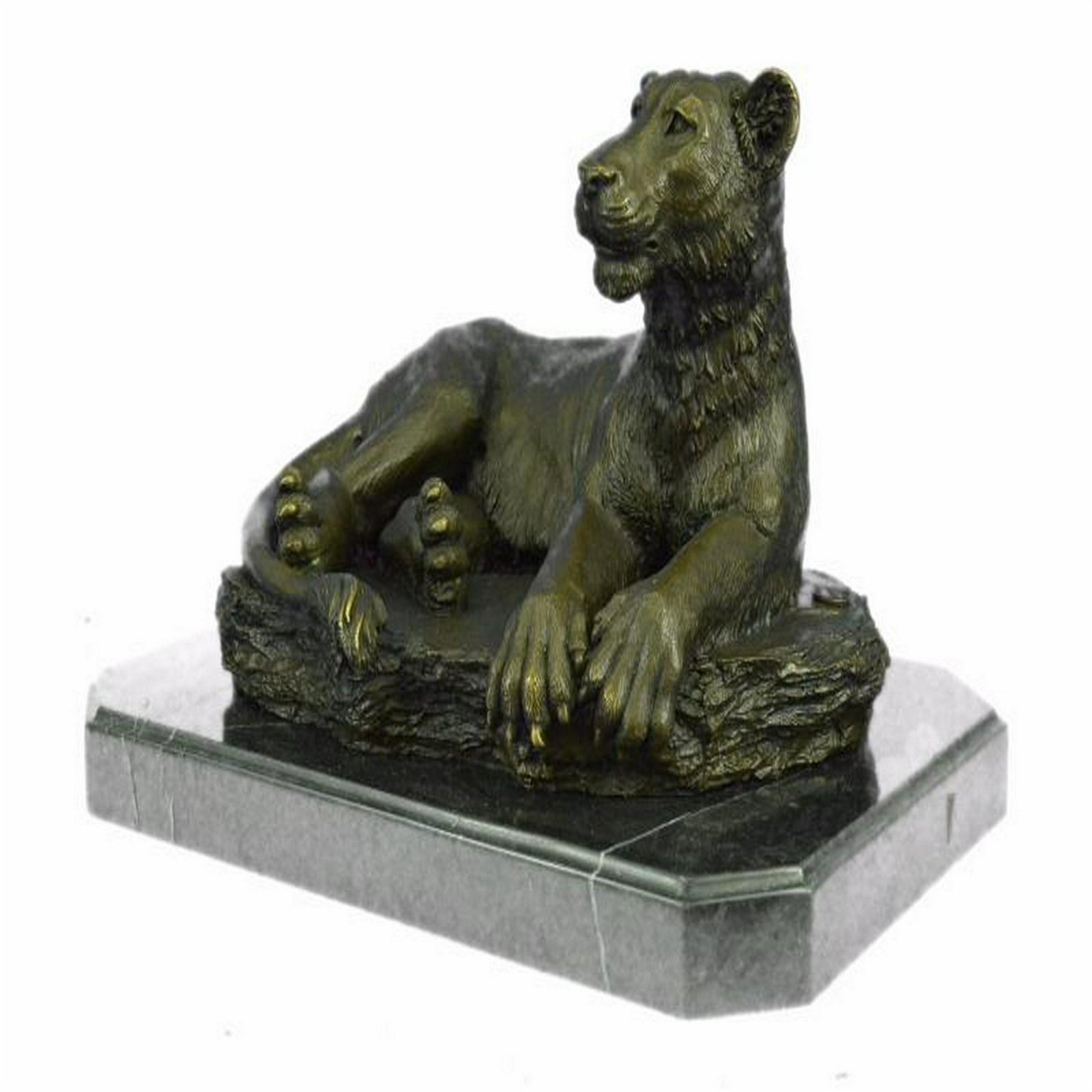 Female African Wildlife Lion Bronze Sculpture