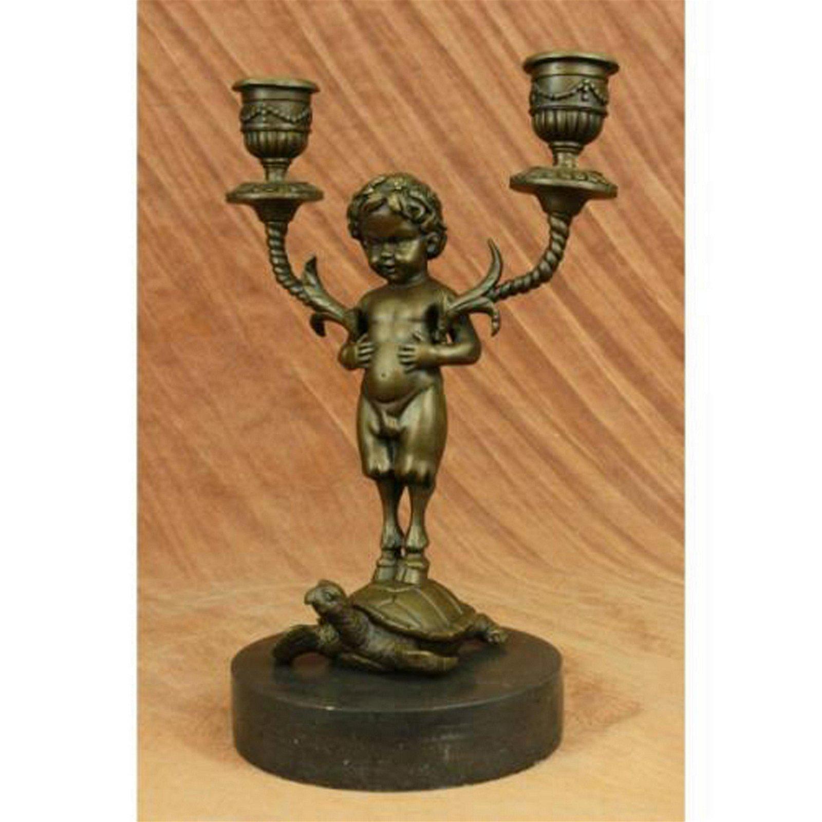 Candleholder Bronze Statue