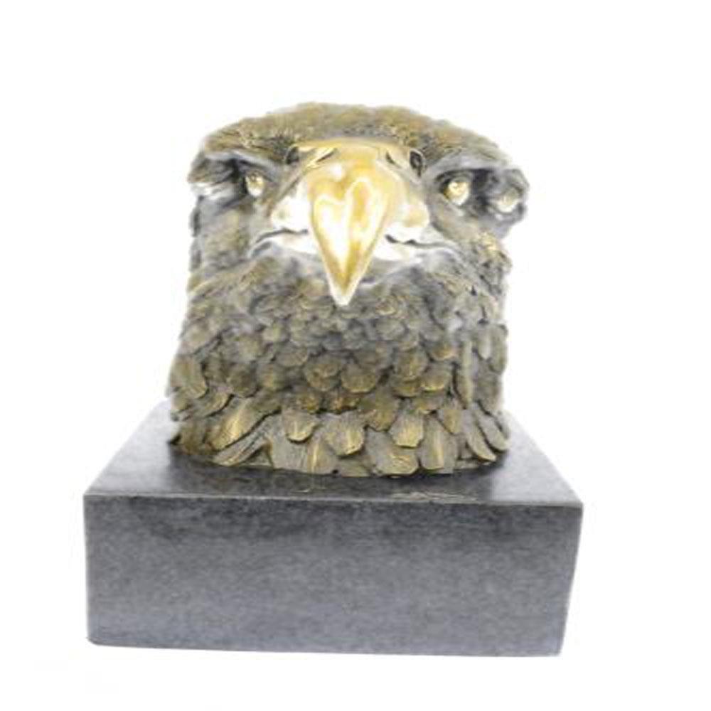 Eagle Garden Park Zoo Statue on Marble Base Figurine
