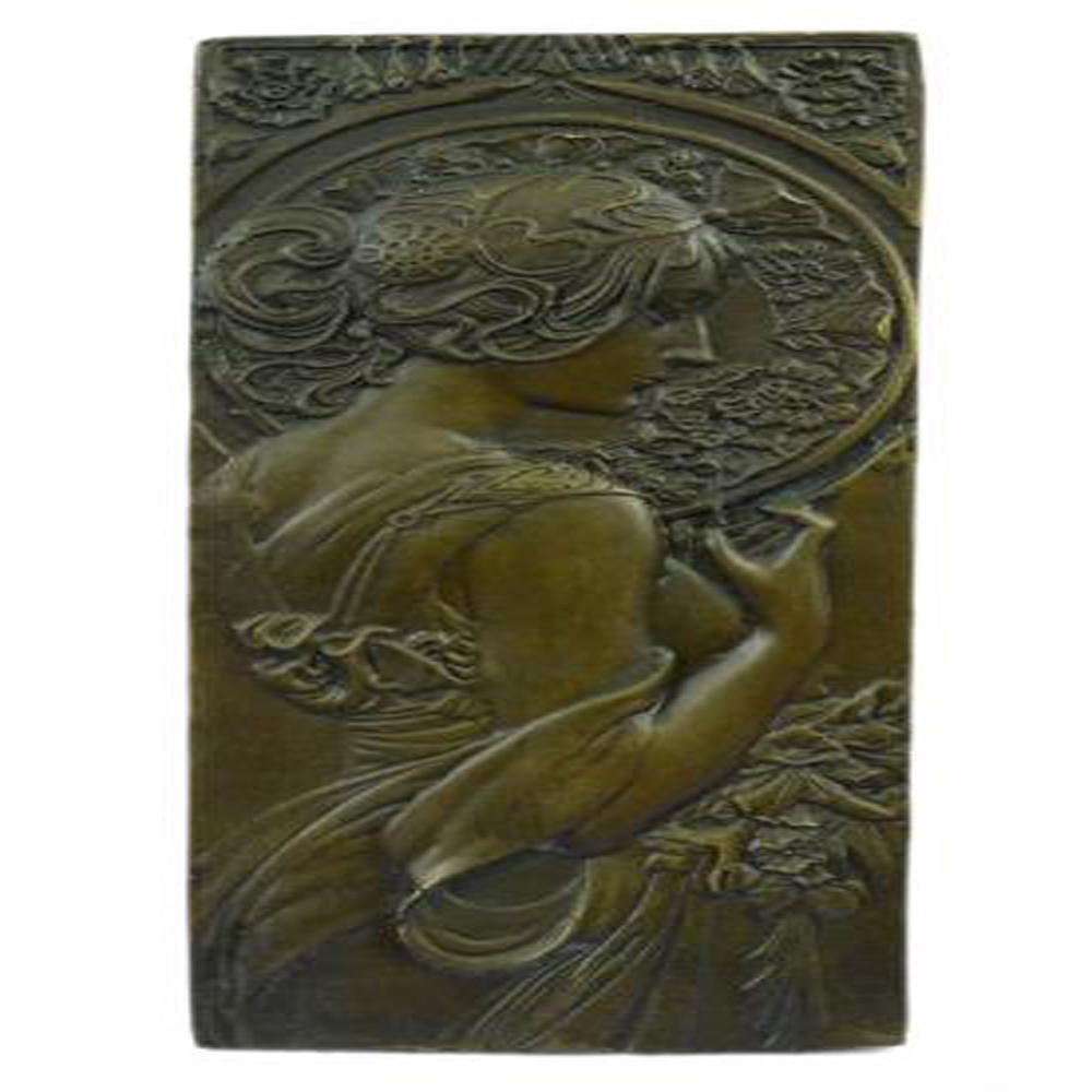 Plaque of Sexy Girl Bronze Sculpture