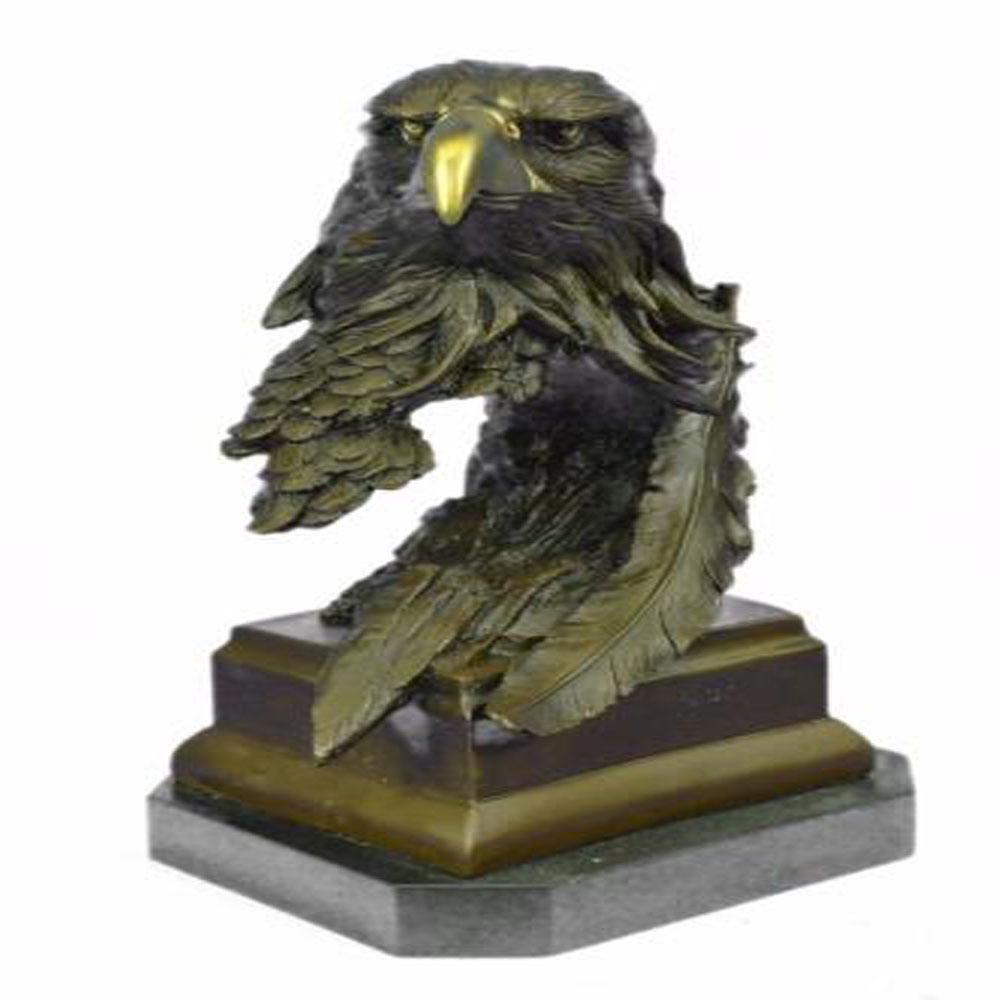 American Bald Eagle Bronze Bust Sculpture