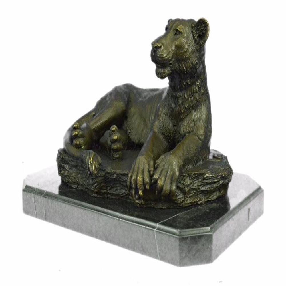 Female African Wildlife Lion Bronze Sculpture
