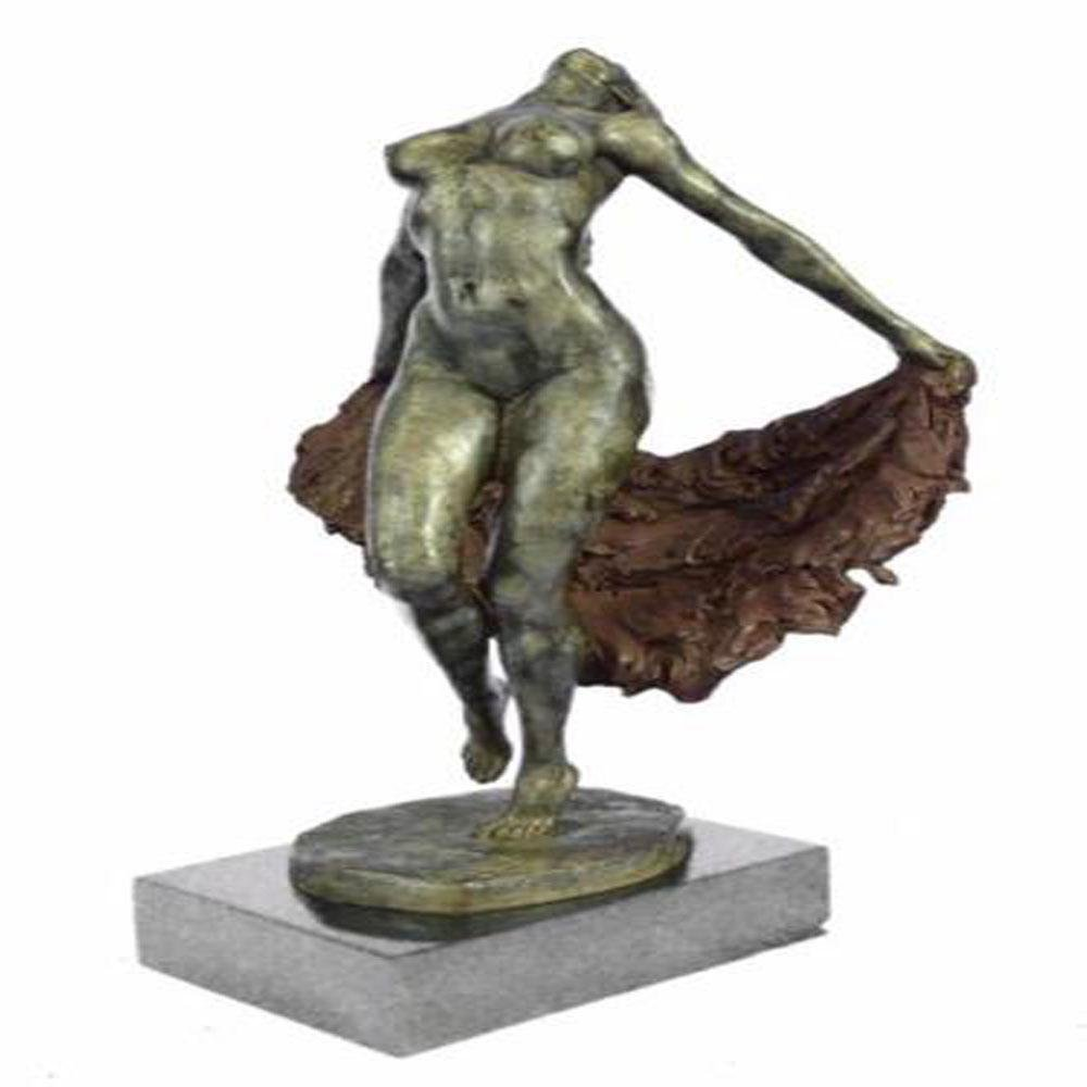 Abstract Modern Art Nude Dancer Bronze Sculpture