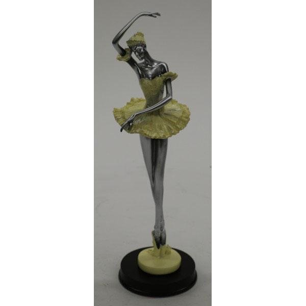Silver and Yellow Cold Cast Bronze Sculpture