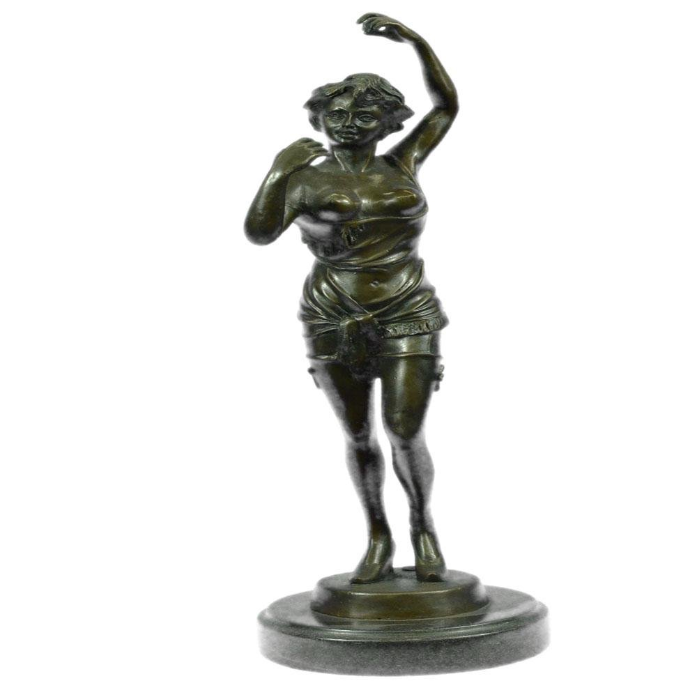 Nude Bronze Sculpture on Marble Base Statue