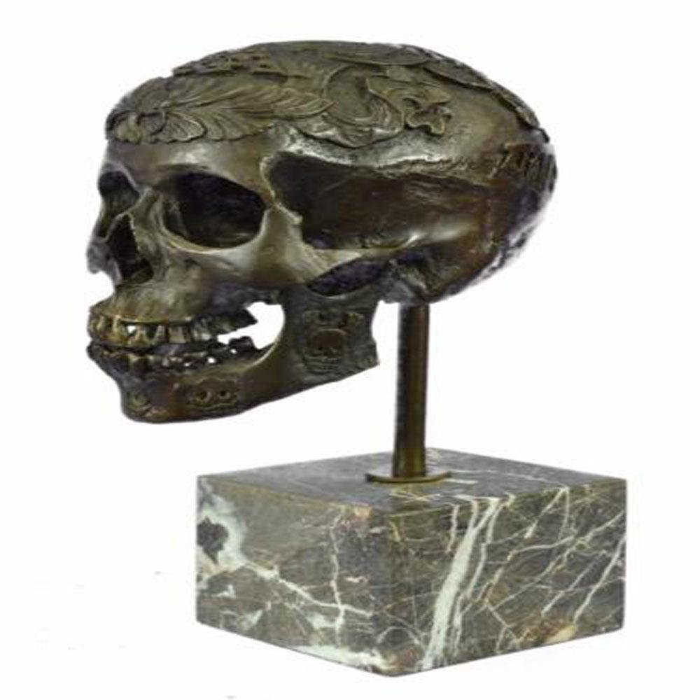 Skeleton Halloween Bronze Sculpture
