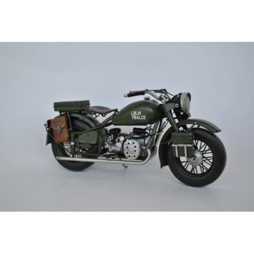 Retro US Army Harley Davidson Motorcycle Artwork Metal
