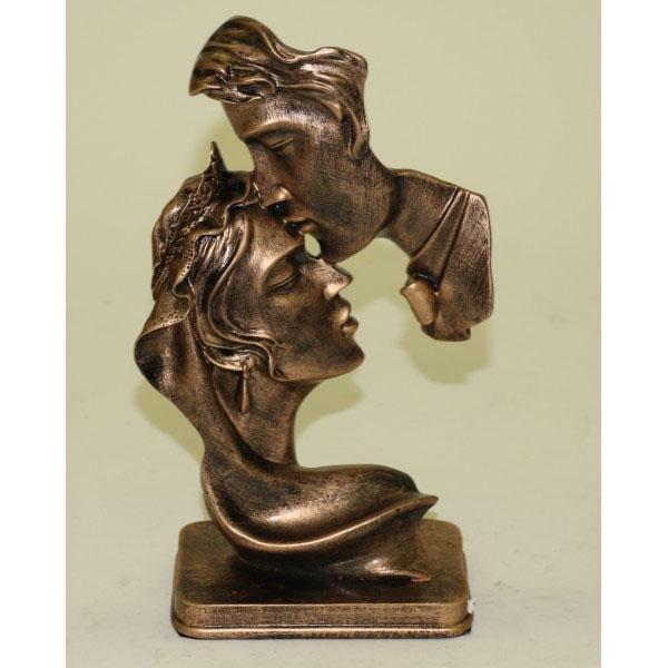 Tender Moment Loving Couple Cold Cast Bronze Sculpture