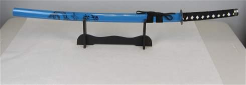 Blue Samurai Sword