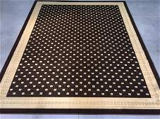 8x10 ALLOVER SOLID INLAY PATTERN AREA RUG