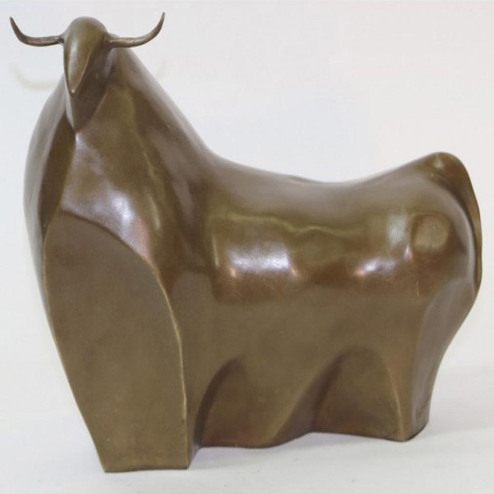 Modern Bull Bronze Sculpture