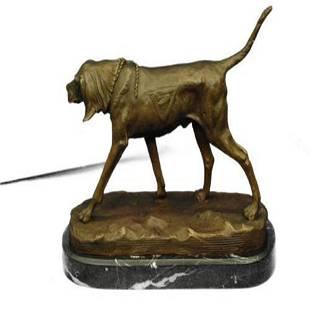 Bloodhound Dog Bronze Sculpture