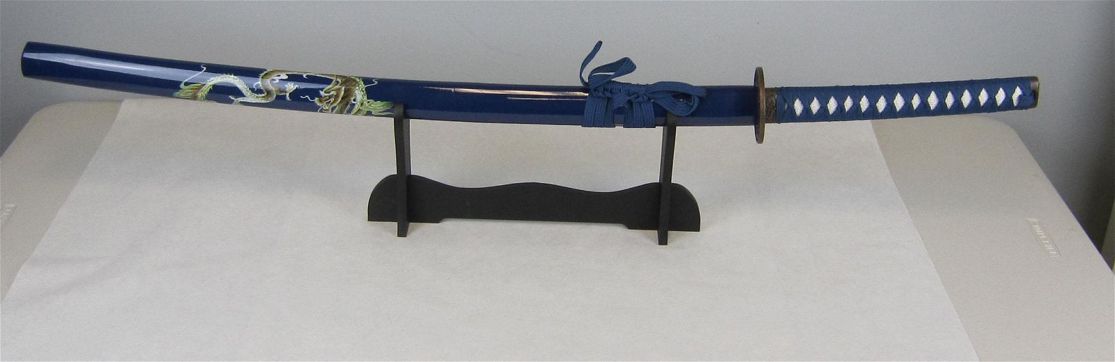 Blue Dragon Katana Samurai Sword