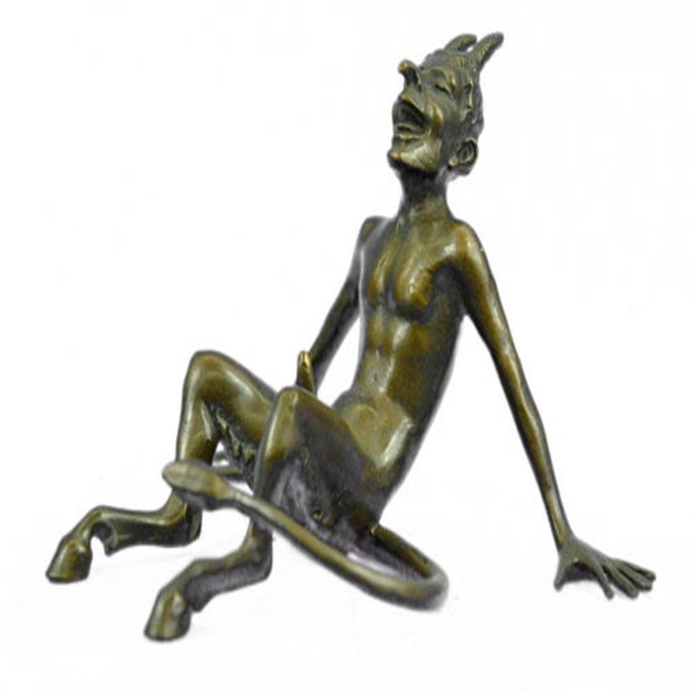 Devil Satyr Dark Angel Bronze Sculpture