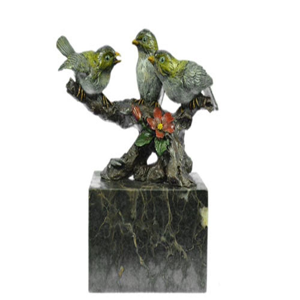 Bird of Paradise Bronze Sculpture on Marble Base