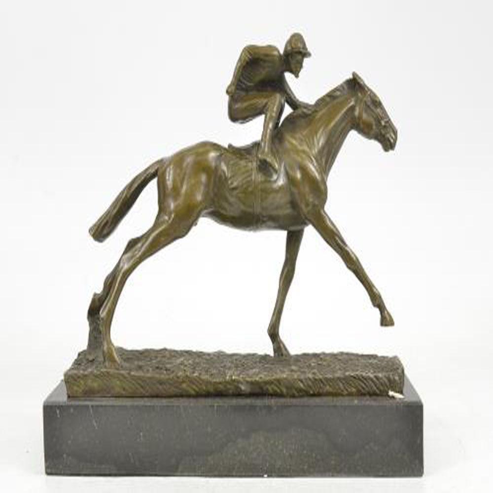 Jockey Horse Racing Bronze Sculpture