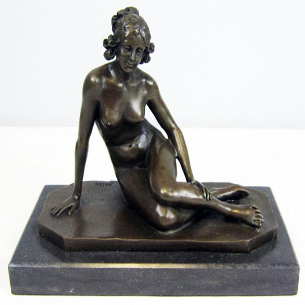 Erotic Victorian Lady Bronze Statue
