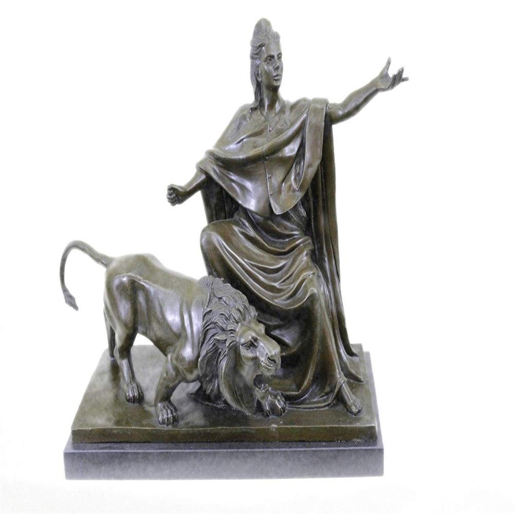Britannia Goddess Bronze Sculpture on Marble Base