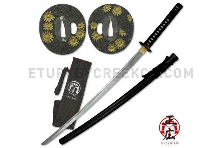 Masahiro Himawari Samurai Katana Sword - Black