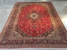 FINE PERSIAN KASHAN RUG 10x13