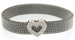 Very Cool Stainless Bracelet with Diamond Heart