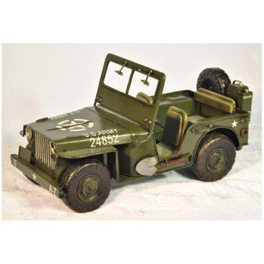 Willys Jeep Model WWII US Army handmade Metal Model