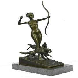 Nude Diana the Hunter Bronze Sculpture