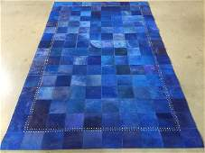 Modern Natural leather Cow hide RUG 5 x 8