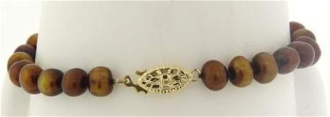 Elegant Brown Pearl Bracelet