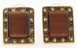 Vintage Fashion Gold Setting Earrings