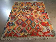 5X6.4 HAND KNOTTED COLORFUL KLIM