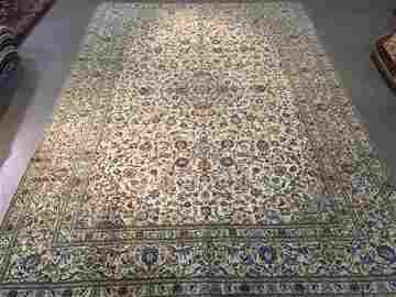 9.6X13.5 MAGNIFICENT AUTHENTIC PERSIAN KASHAN RUG