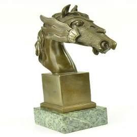 Bust Horse Bronze Sculpture