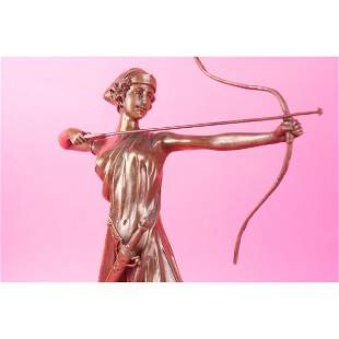 Female Knight Warrior Bronze Statue