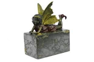 Angel Cherub Gild Bronze Statue