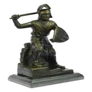 Japanese samurai Warrior Bronze Sculpture