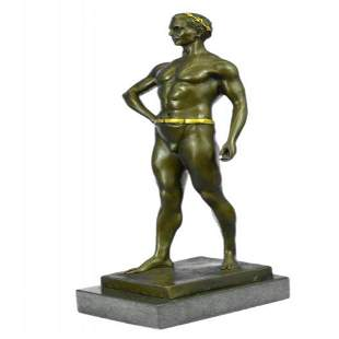 Roman Emperor God Bronze Sculpture