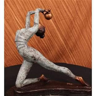 Gymnast Bronze Statue