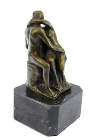 Rodin Famous Kiss Bronze Sculpture Figurine Statue