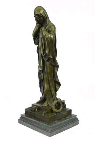 Virgin Mary Religion Bronze Sculpture