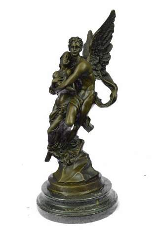 Eros and Psyche Greek Mythology Venus Bronze Sculpture