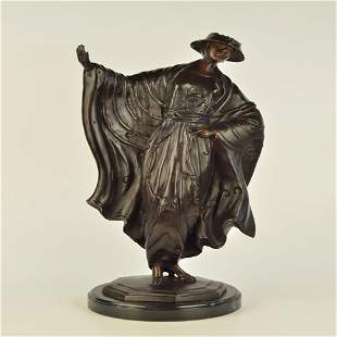 Japanese Belle Bronze Statue