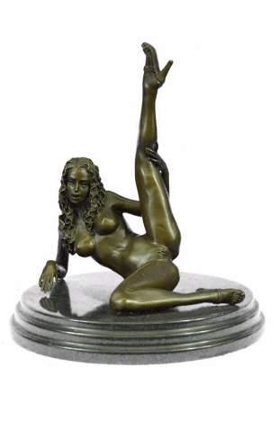 Nude Naked Woman Bronze Sculpture