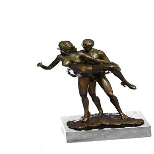 Highly Erotic Sexual Sex Bronze Sculpture on Marble