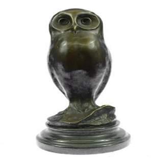 Owl Bronze Bird Sculpture