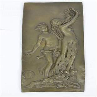 Apollon et Daphne Bronze Statue Wall Plaque Sculpture