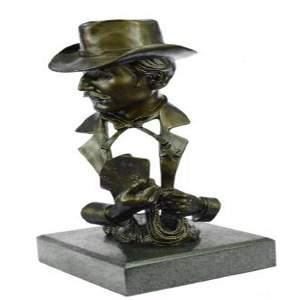 Gambler Cards Casino Game Room Decor Bronze Statue