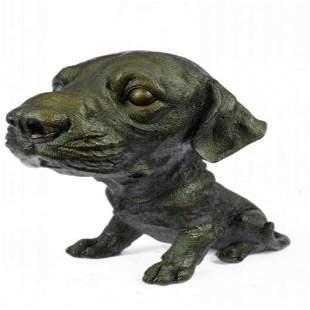 Adorable Labrador puppy Bronze Sculpture