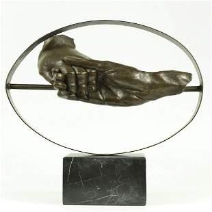 Hand holding each other Bronze Sculpture
