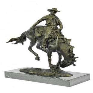 Western Buster Bronze Sculpture